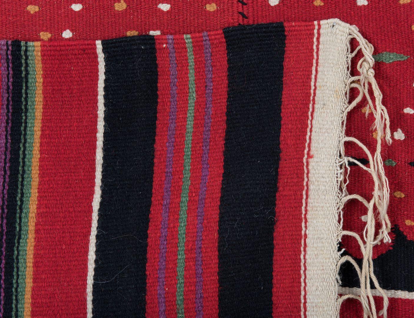 Lot 666: Vintage Red Mexican Saltillo Serape Blanket