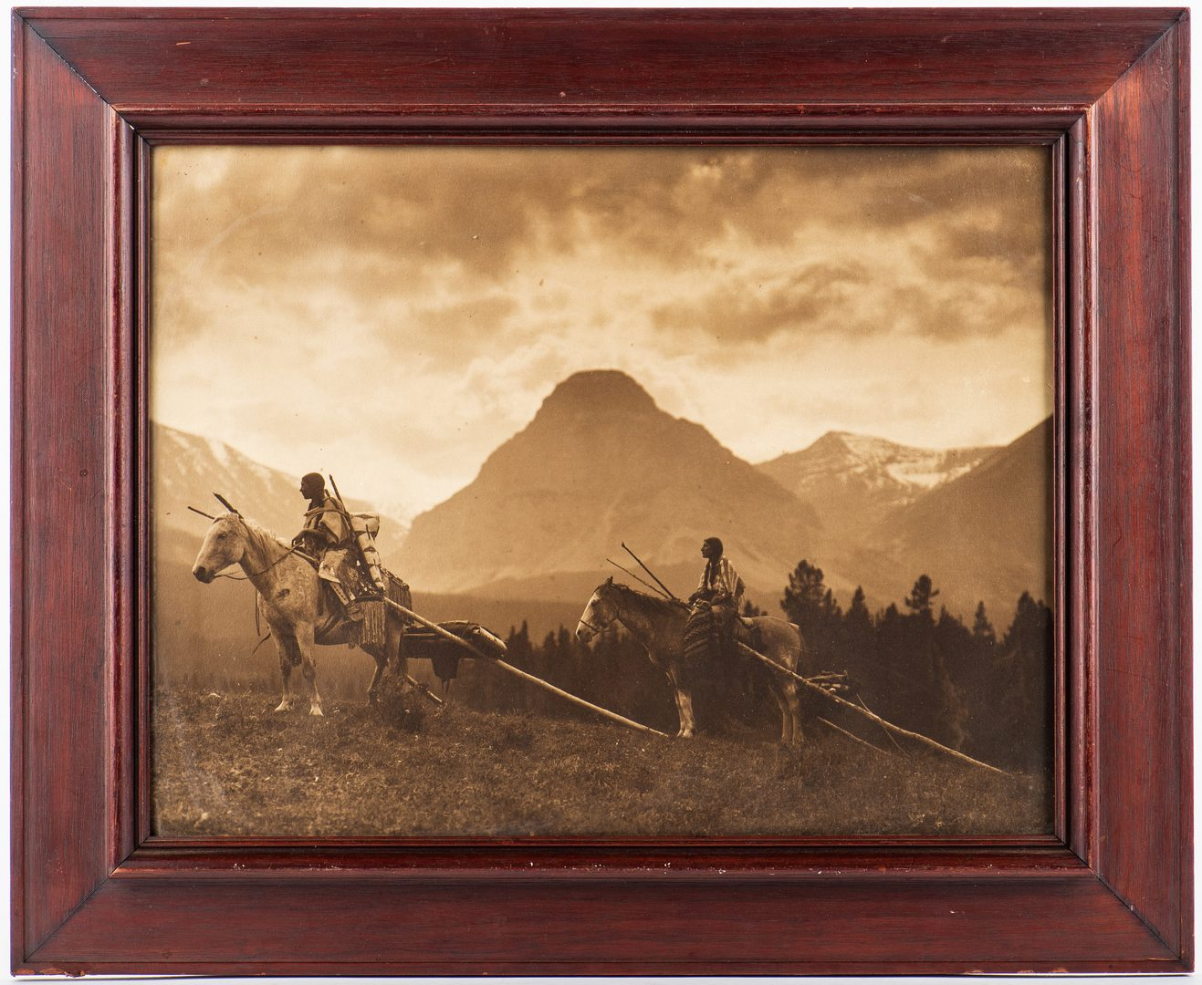 Lot 667: Roland Reed Indian photograph, Waiting for the Hunters