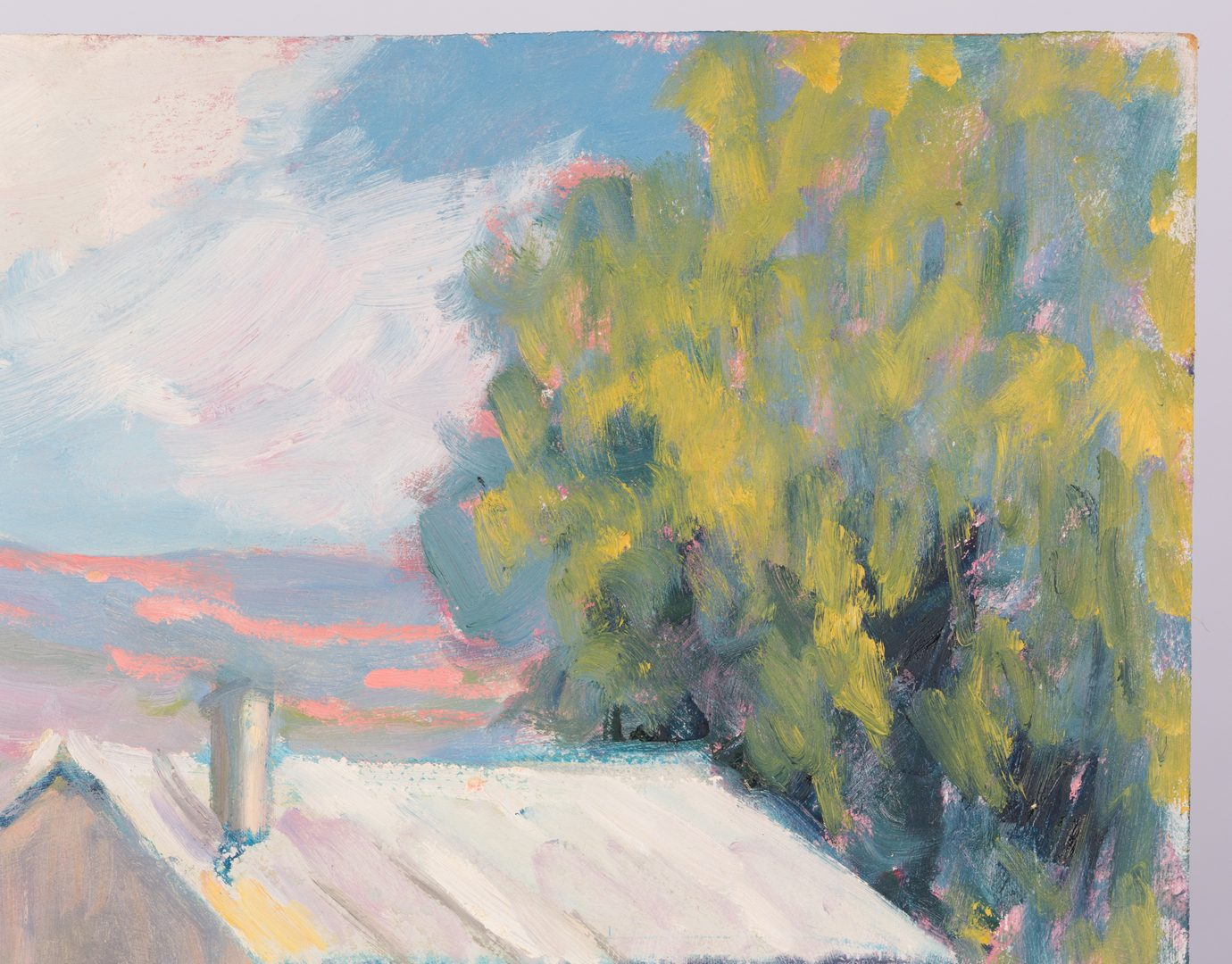 Lot 671: Earline Barnes Impressionist Oil Landscape