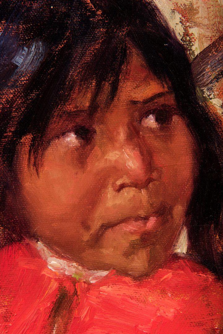Lot 673: Jessica McCain, O/B, Portrait of Girl
