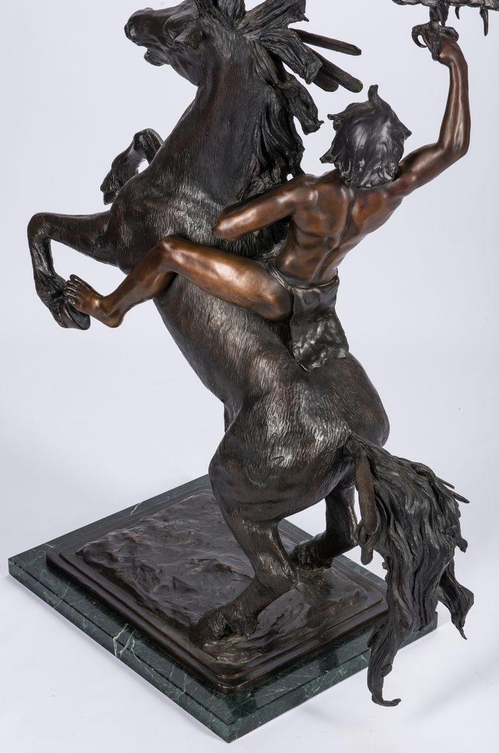 """Lot 678: Stanley Johnson Bronze Sculpture """"Ponca Eagle Boy"""""""