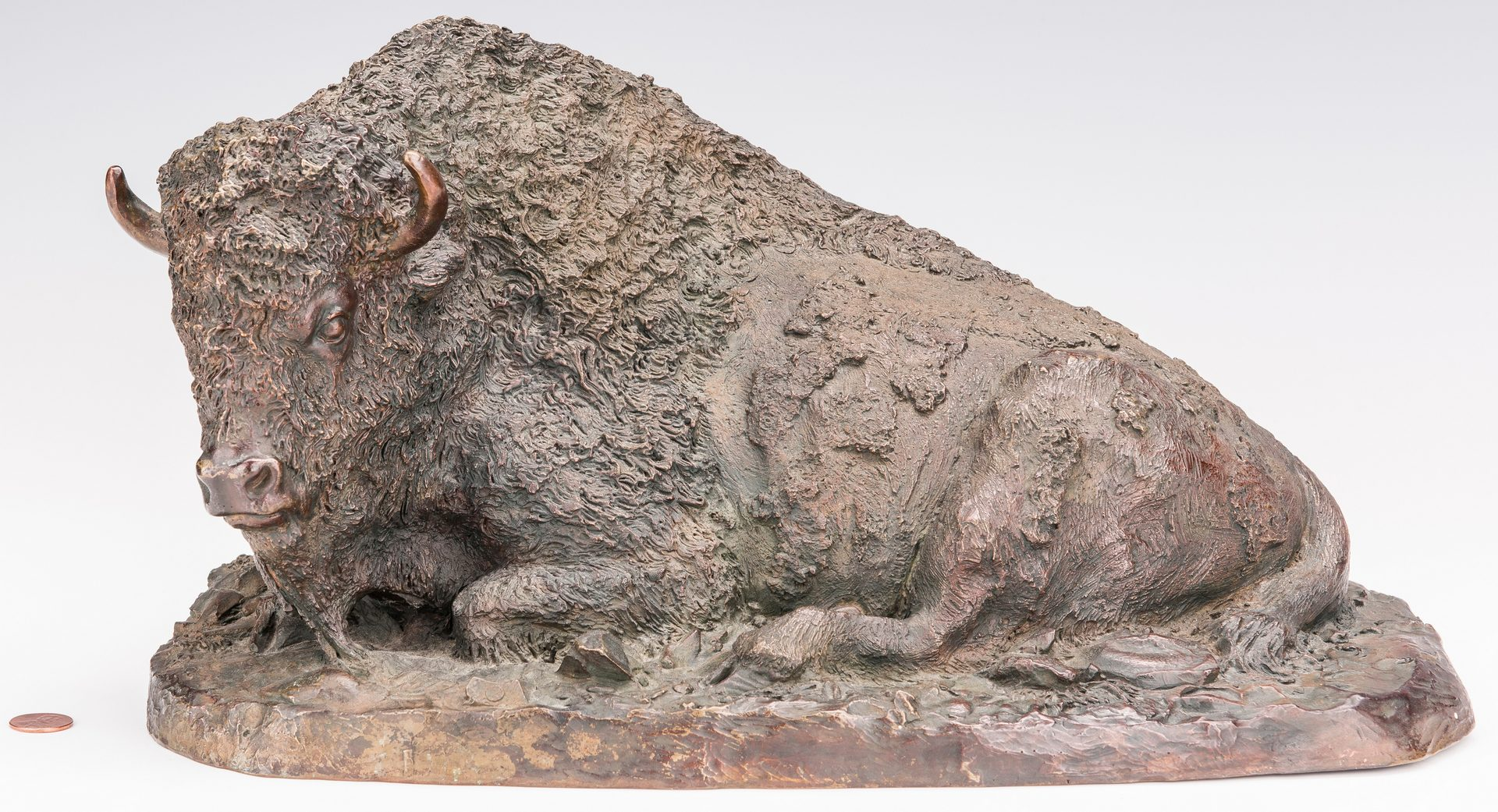 Lot 681: Adam Rose Bronze Buffalo Sculpture