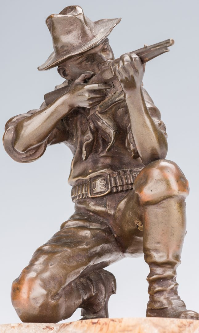 Lot 683: Bronze Man with Rifle, After Kauba