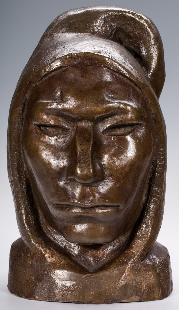 Lot 684: Margo Allen Bronze Bust, Portrait with Archive