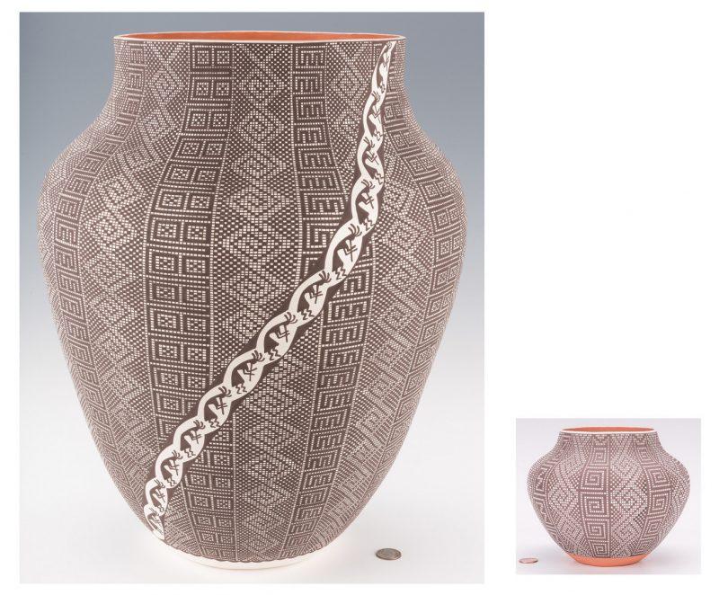 Lot 697: 2 Acoma Pottery Jars, Melissa & Frederica Antonio