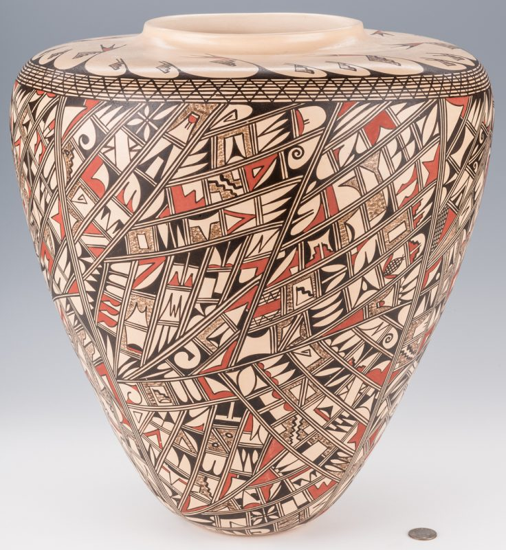 Lot 699: Hopi Polychrome Pottery Jar,  JoFern Puffer