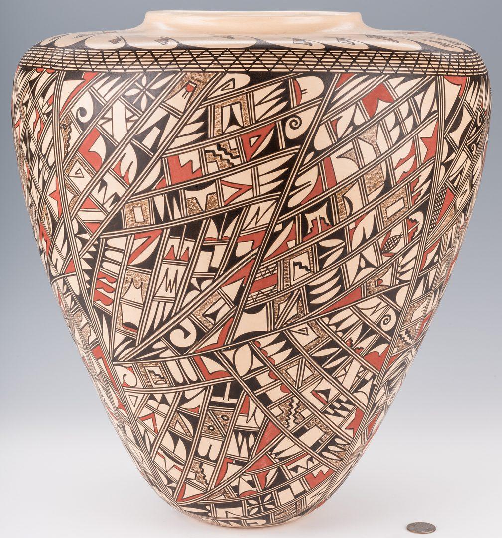 Lot 699: Hopi Polychrome Pottery Jar,  JoFern Puffer