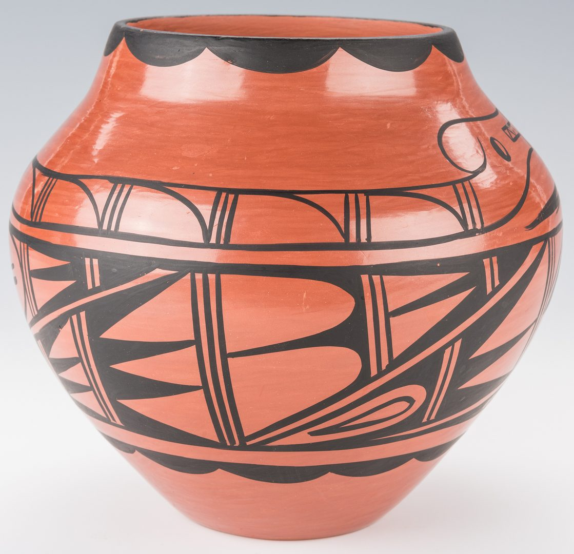 Lot 701: 2 Native American Jemez Pottery Jars by Donald Chinana