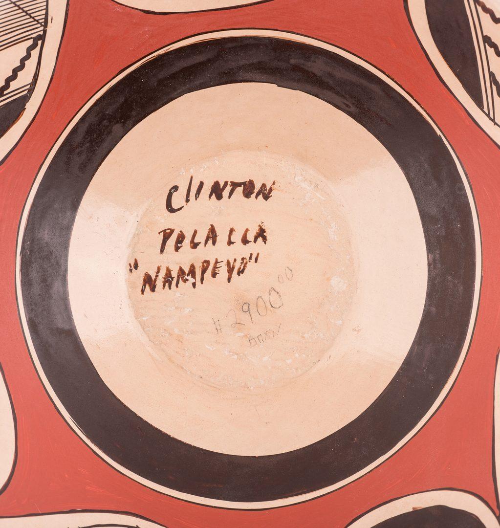 "Lot 705: Clinton ""Polacca"" Nampeyo & Carmelita Dunlap Pottery Jars"