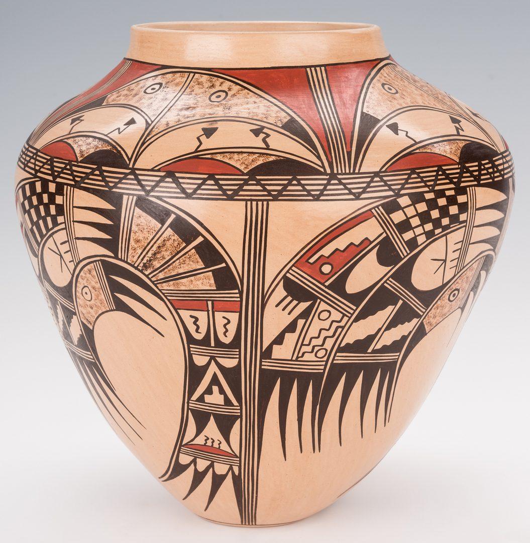 Lot 707: 2 Loretta Silas Hopi Polychrome Pottery Jars