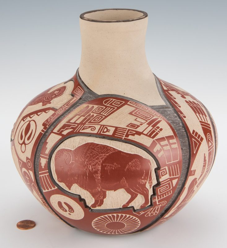 Lot 708: Thomas Polacca Nampeyo Native American Pottery Jar