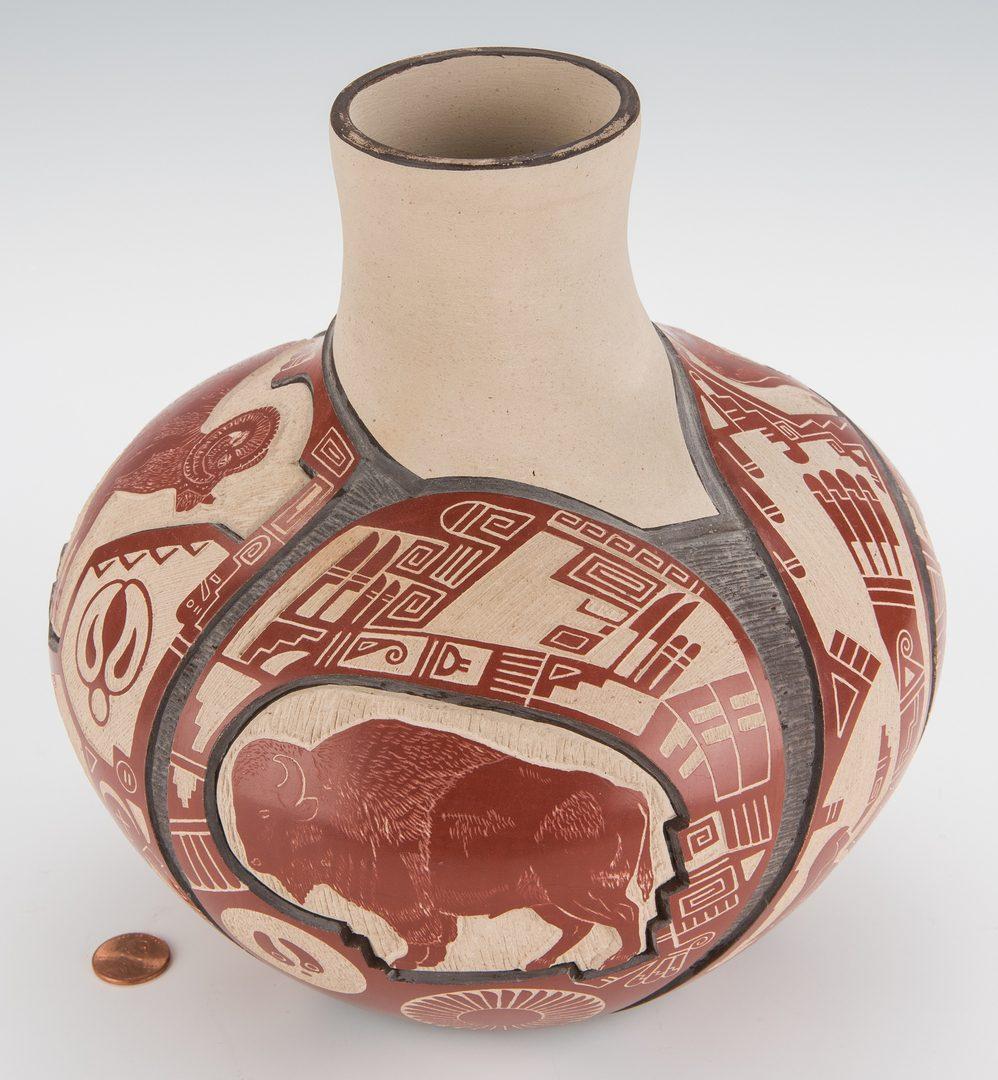 Lot 708: Thomas Polacca Nampeyo Native American Pottery Jar