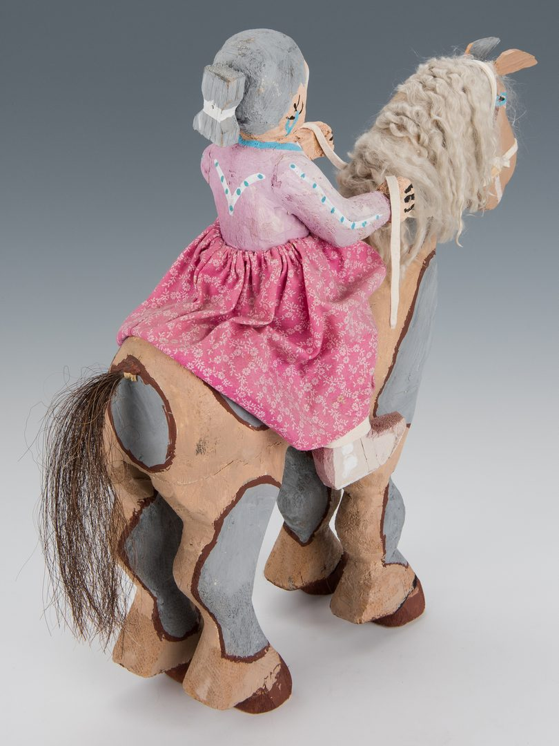 Lot 711: Delbert Buck Sculpture, Navajo Woman on Horseback