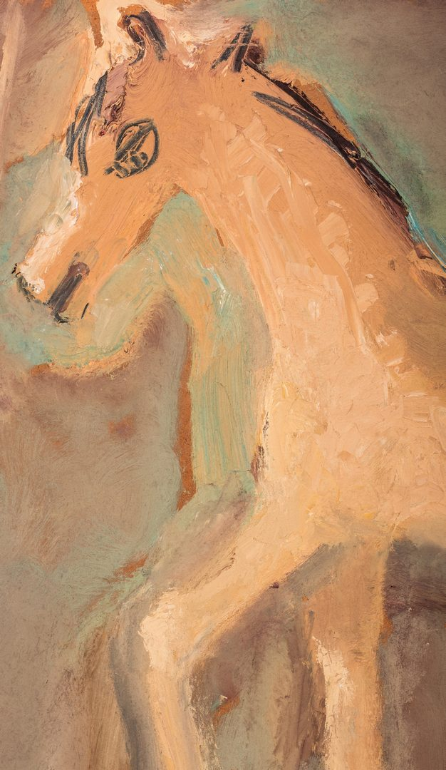 Lot 713: Sterling Strauser, O/B, Horse Painting