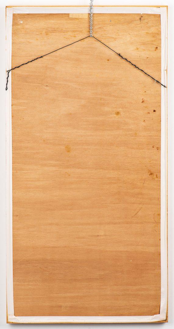 Lot 722: Jimmy Lee Sudduth Outsider Art Painting, poss. Self Portrait