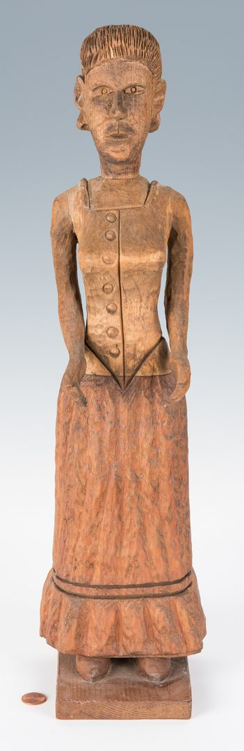Lot 727: Clarence Stringfield Carved Woman Figure