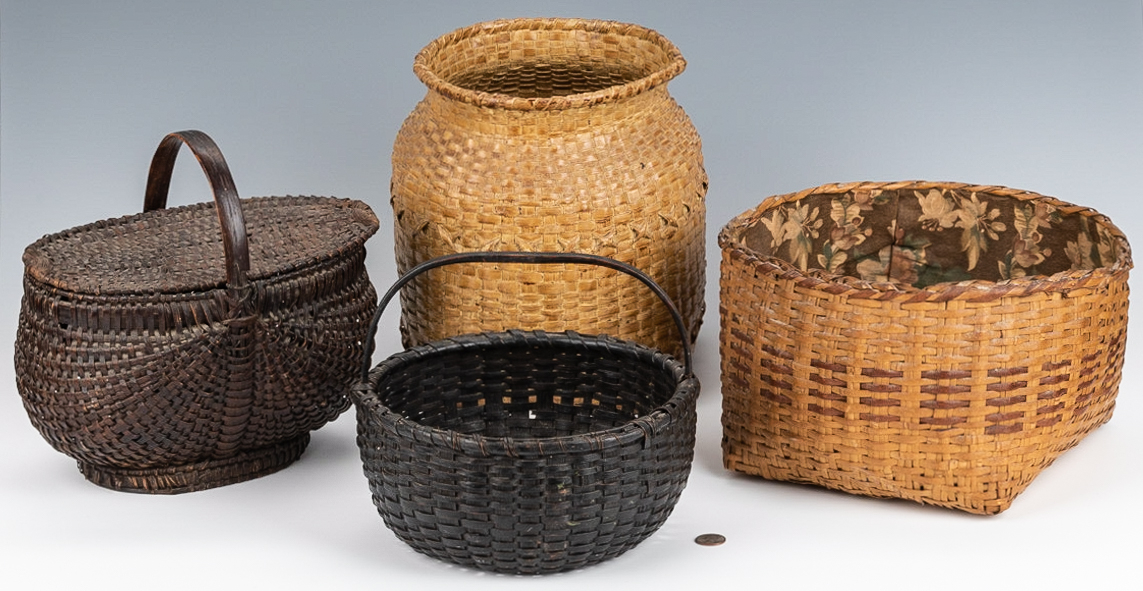 Lot 736: 2 East TN and 2 Cherokee Baskets