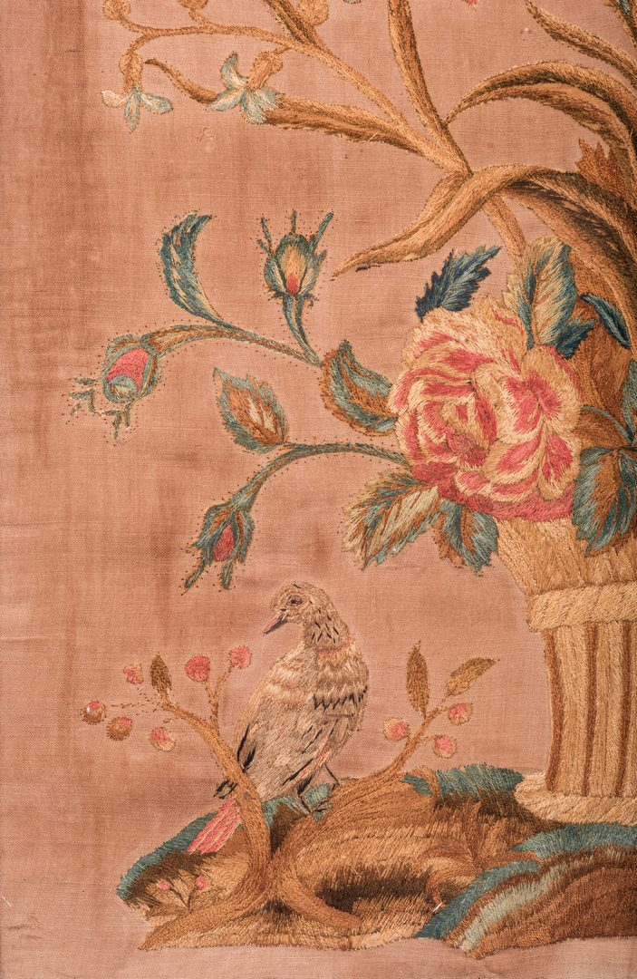 Lot 739: 3 19th C. Decorative Flower/Bird Works