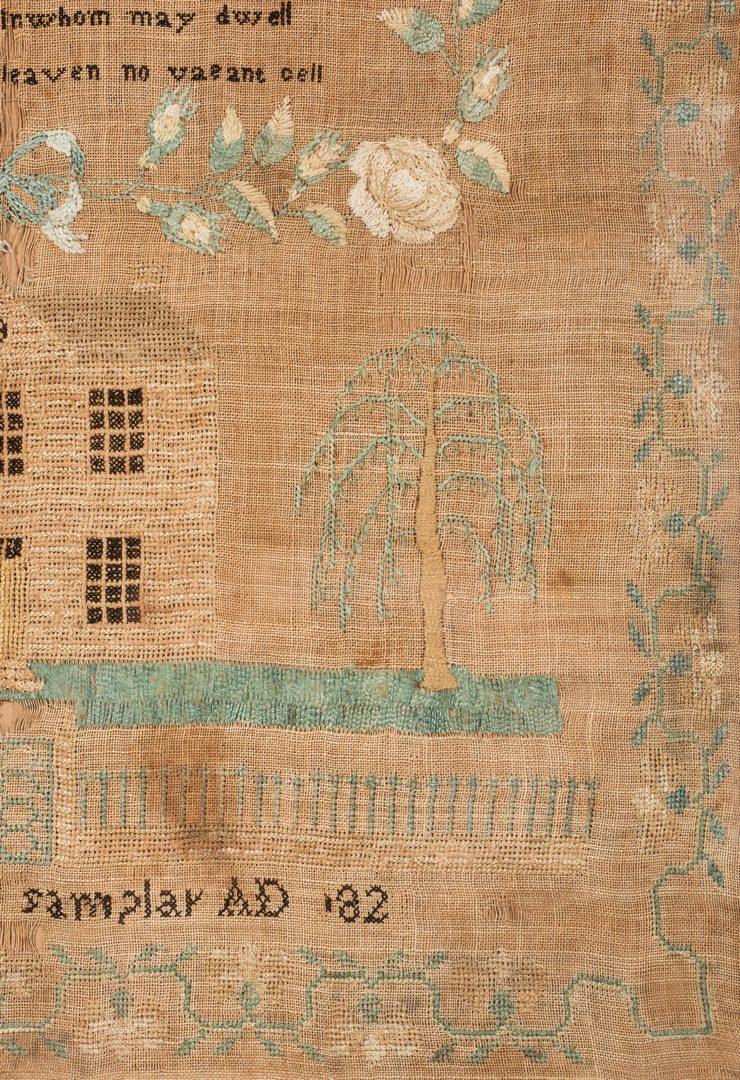 Lot 741: Maryland Needlework House Sampler, Eliz. Boyd