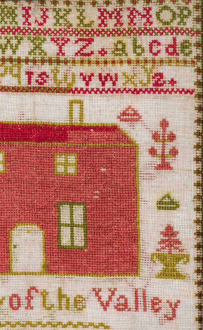 Lot 742: Kentucky House Sampler, dated 1865