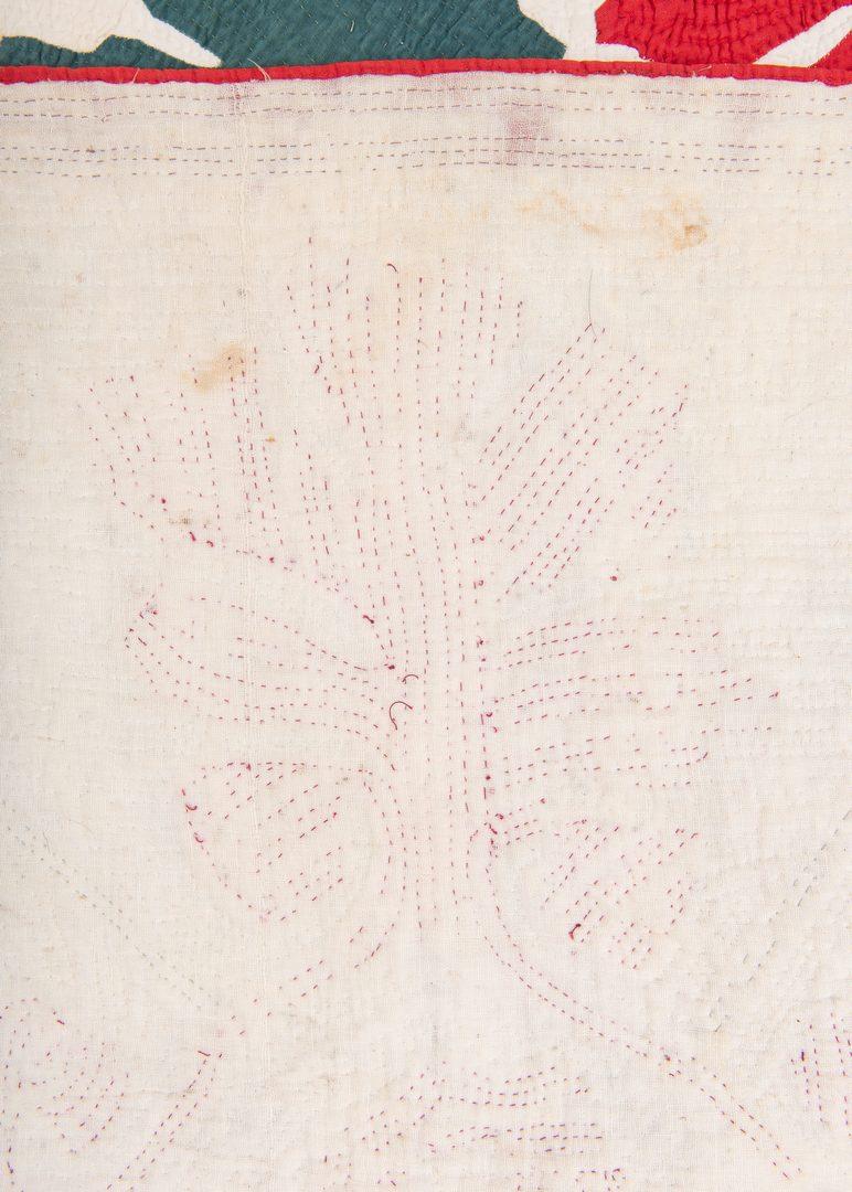 Lot 746: Southern Oak leaf quilt, 19th c.