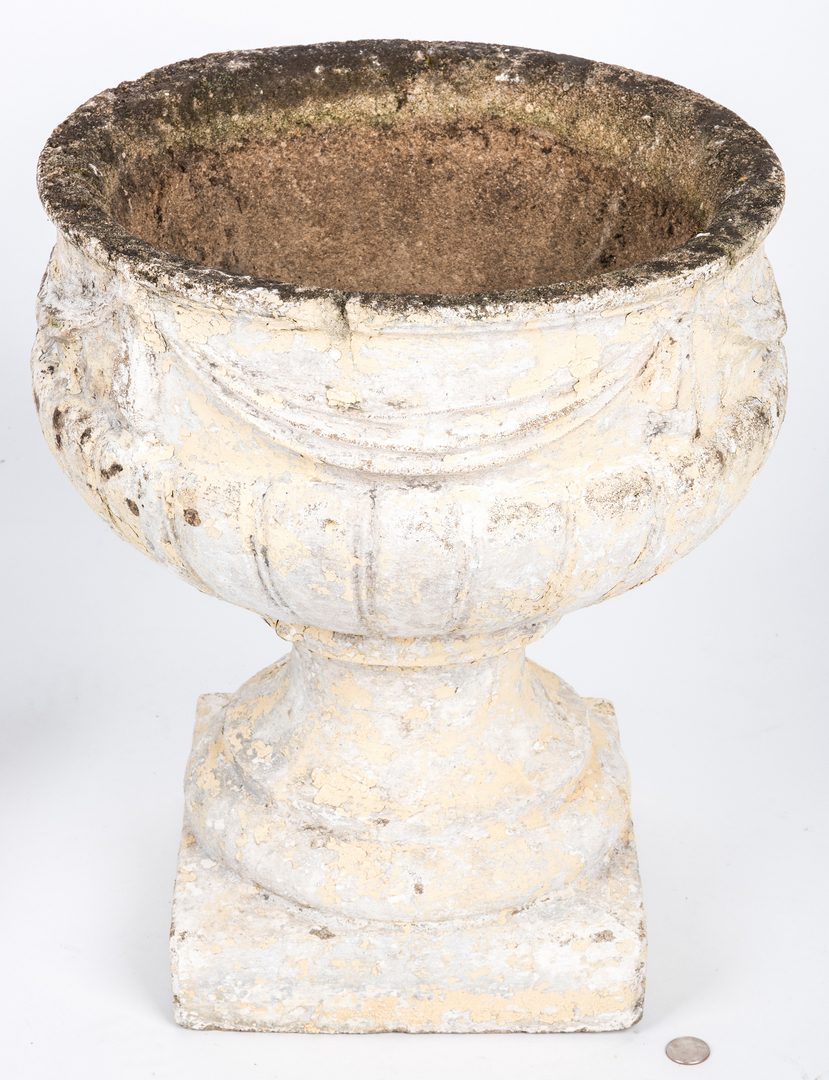 Lot 747: Early Bootscraper, Garden Urn, and Sign