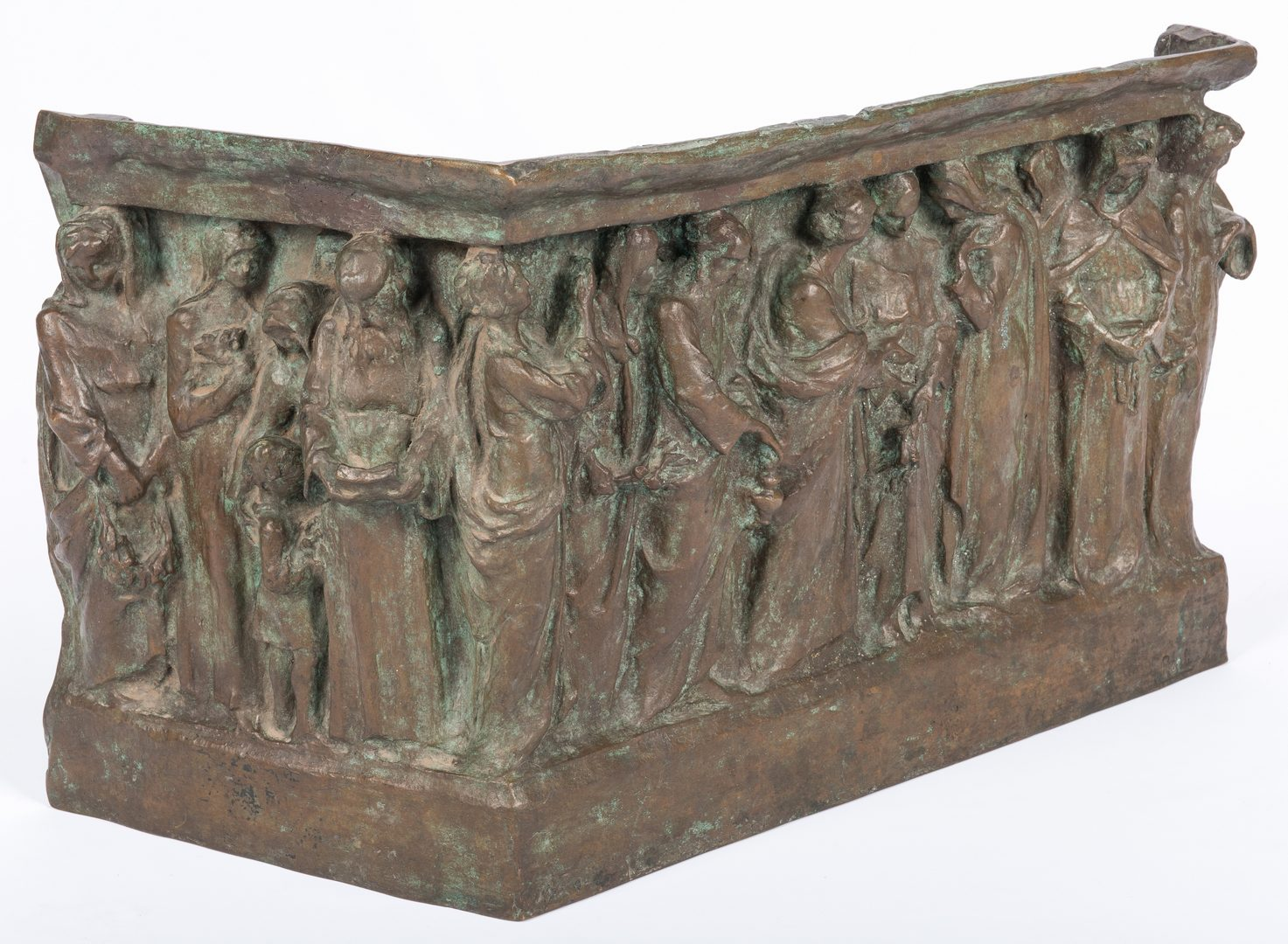 Lot 749: Italian Bronze Relief Frieze Base