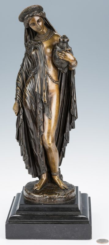 Lot 74: Pradier Bronze Sculpture, Pandora