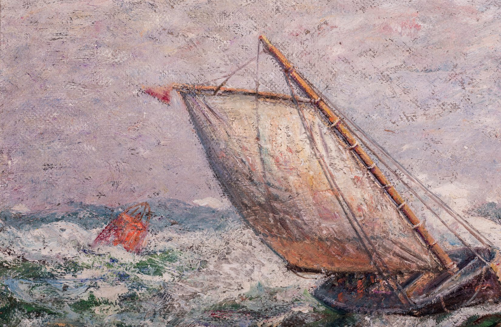 Lot 752: James Tyler, O/C, Painting of a Ship
