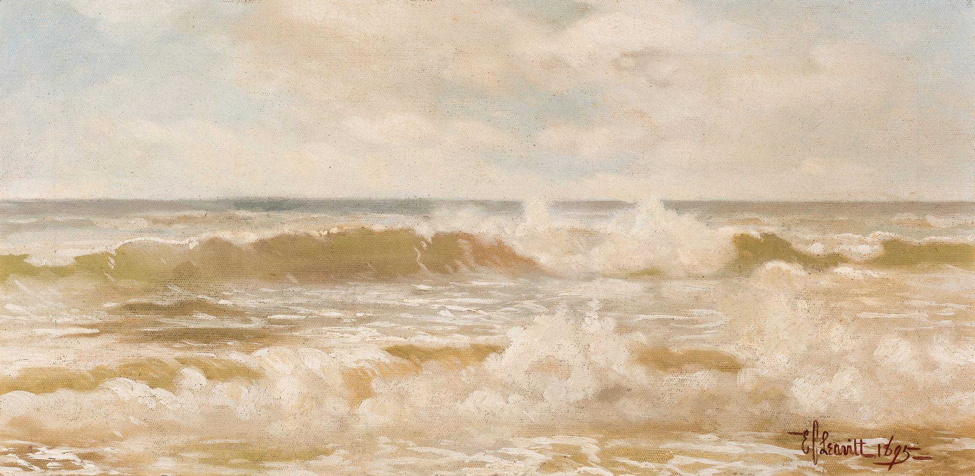 Lot 753: E.C. Leavitt, O/C, Seascape