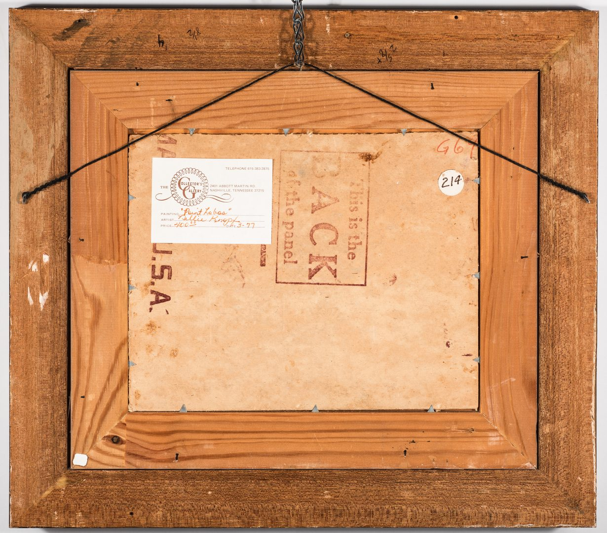 Lot 754: Nellie Knopf Oil on Board Seascape