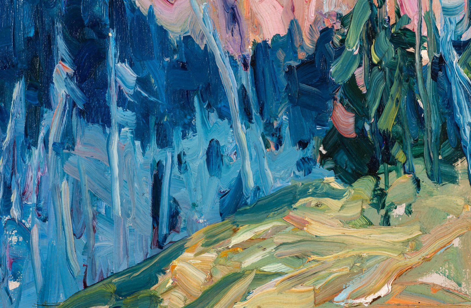 Lot 755: Nellie Knopf Oil on Board Mountain Landscape