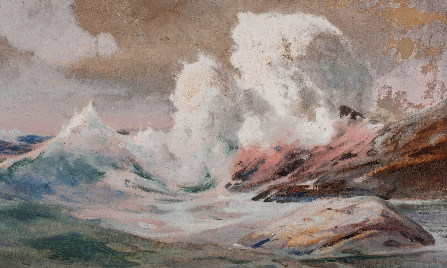 Lot 756: Angel Espoy Oil on Canvas Seascape