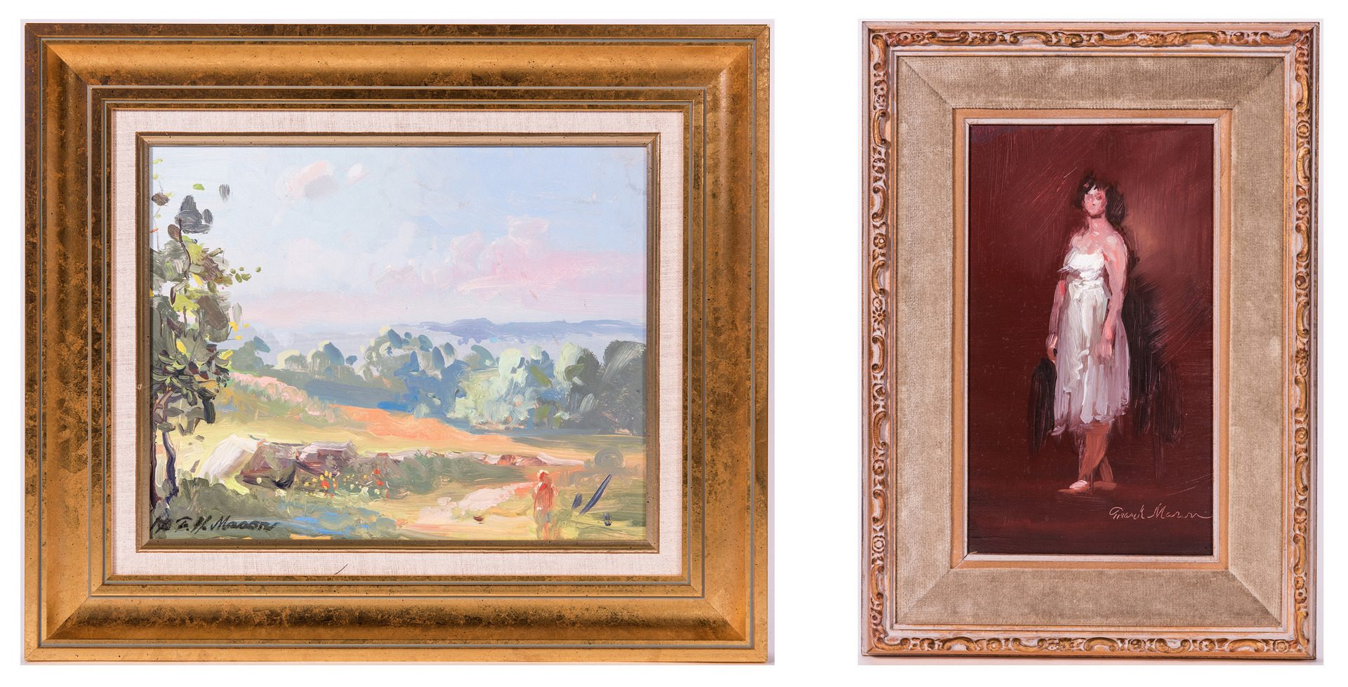 Lot 759: 2 Frank Herbert Mason Paintings