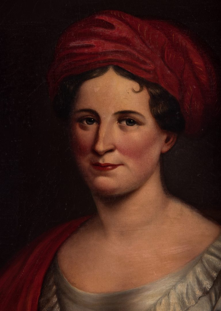 Lot 762: Portrait of Julia C. Dearborn, after Charles Bird King