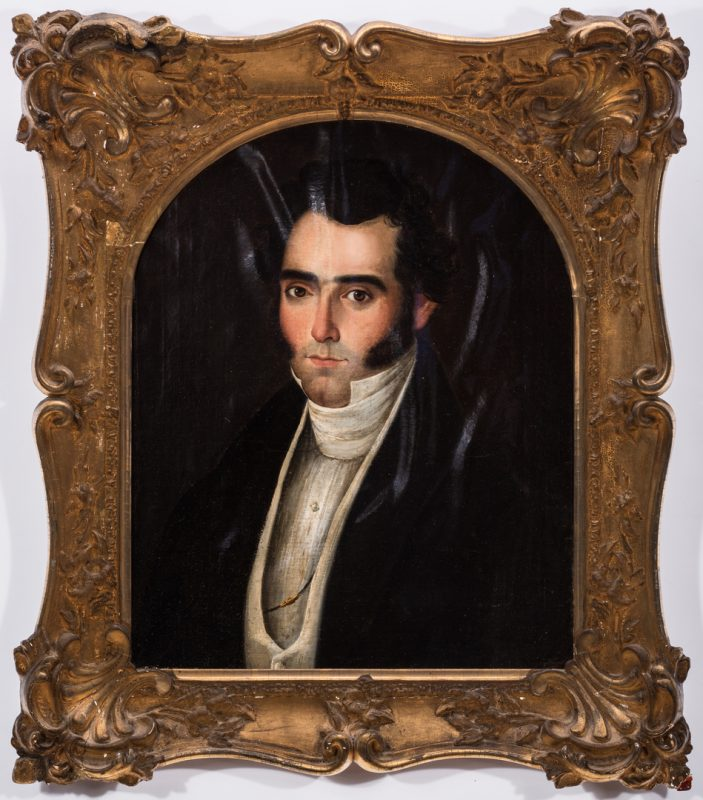 Lot 765: 19th c. Portrait, poss. a Bonaparte