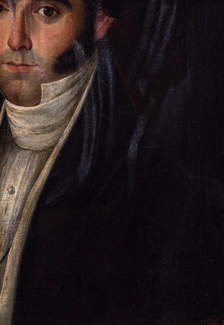 Lot 765: 19th c. Portrait, poss. a Bonaparte