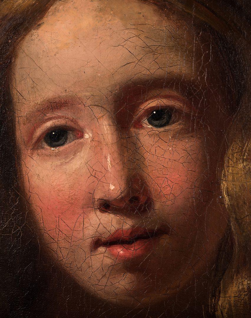 Lot 766: 18th c. Portrait of Servant