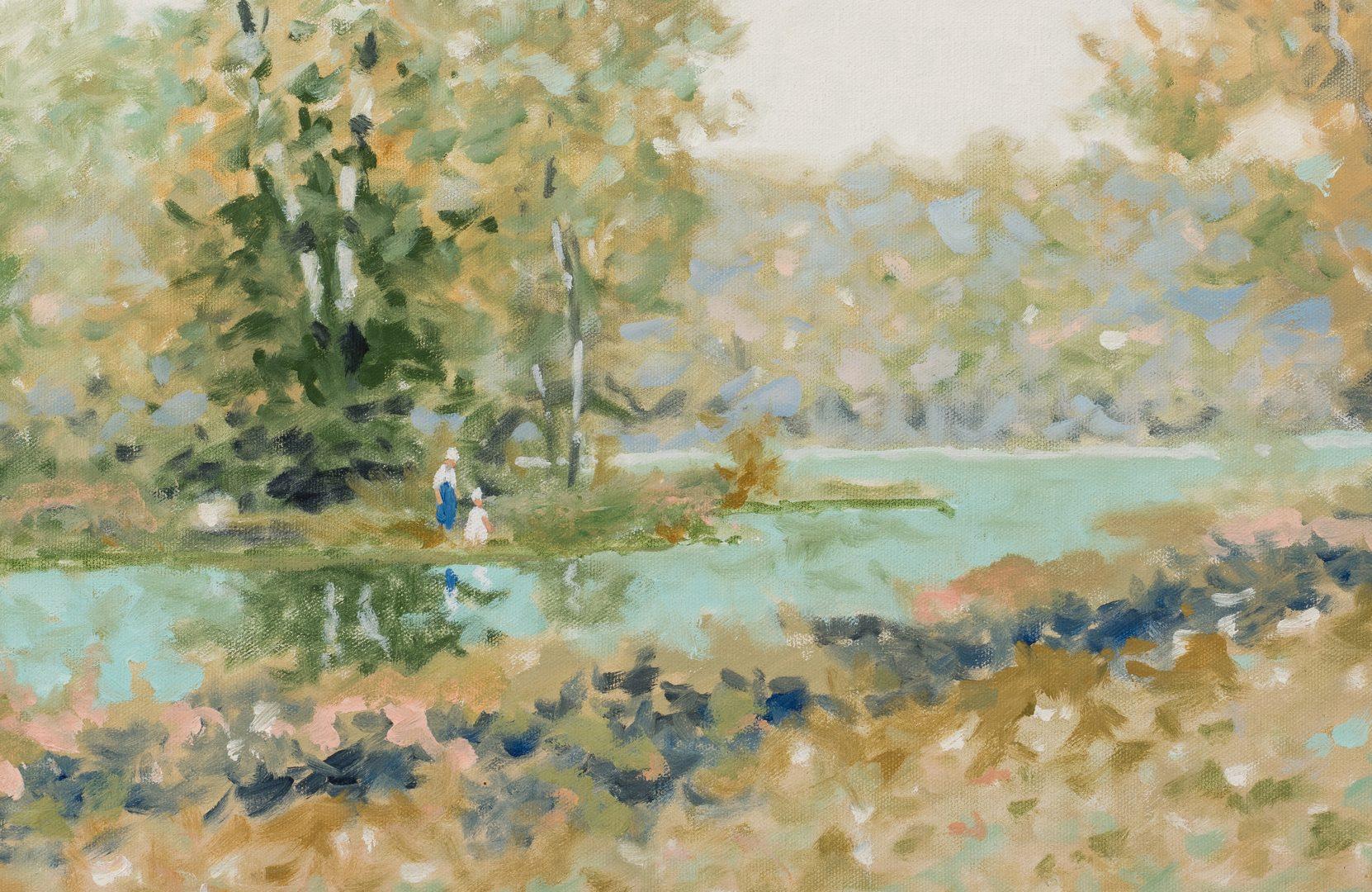 Lot 774: Maurice Monnard O/C Impressionist Landscape