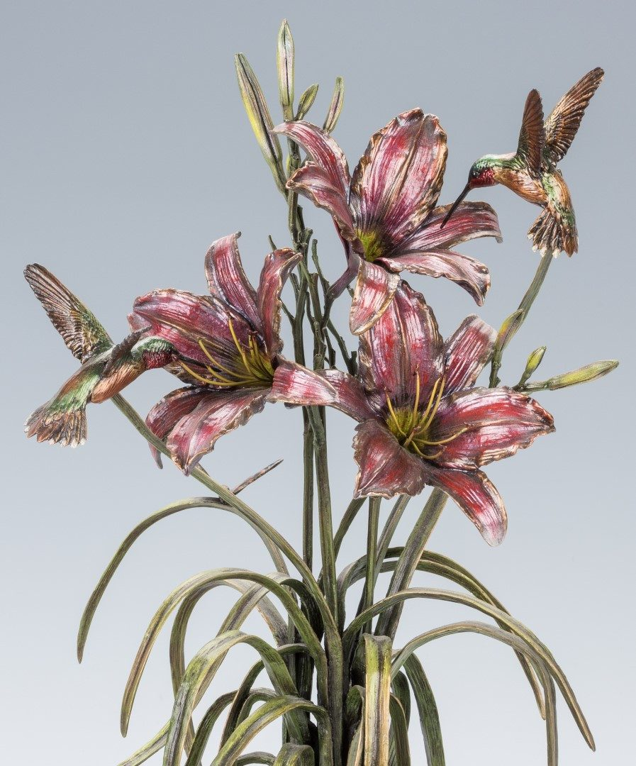 "Lot 775: Frank Divita Bronze Sculpture, ""Summer Lilies"""