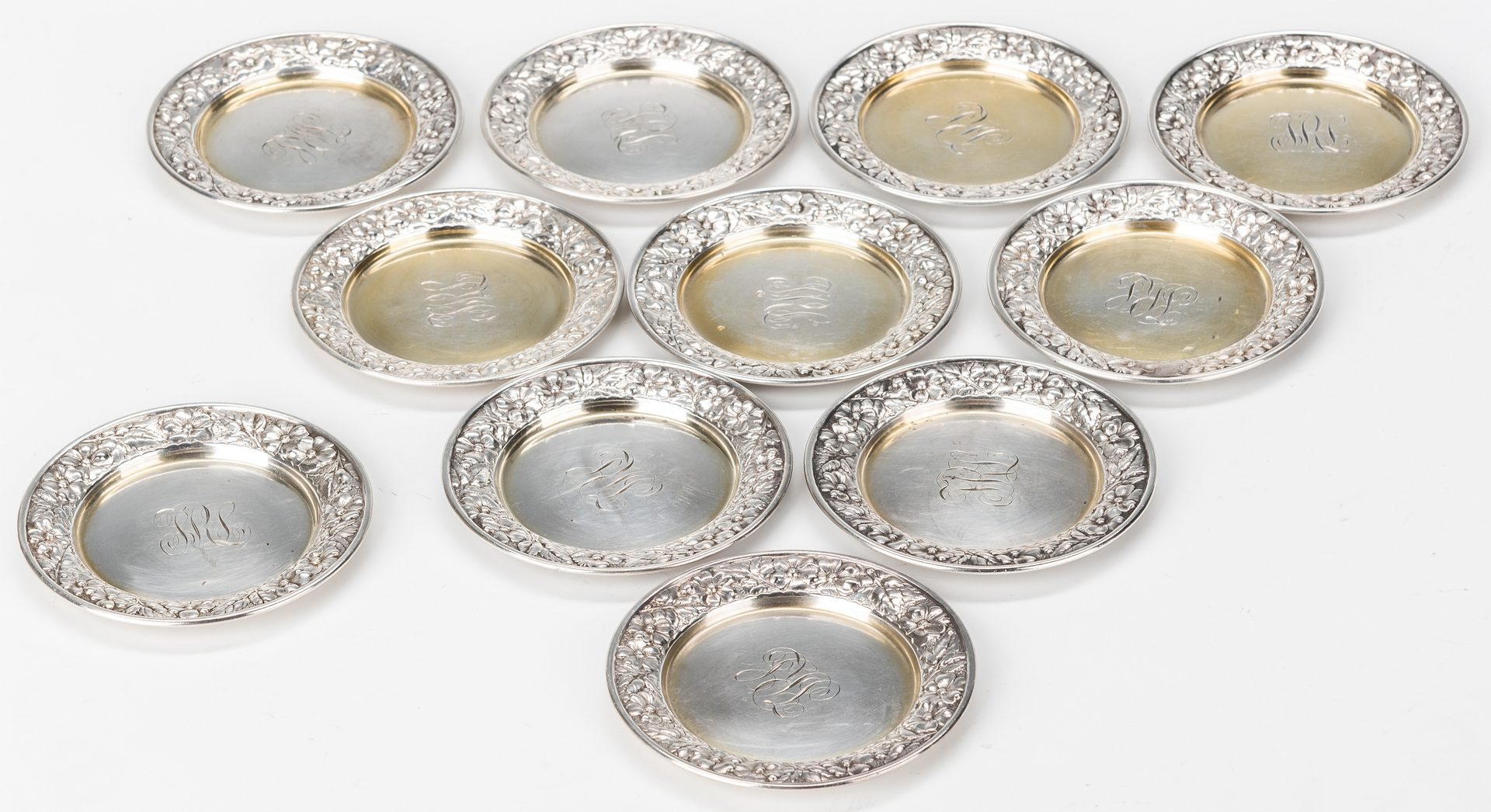 Lot 782: 19 pcs. Small Sterling Holloware inc. Strawberry dish