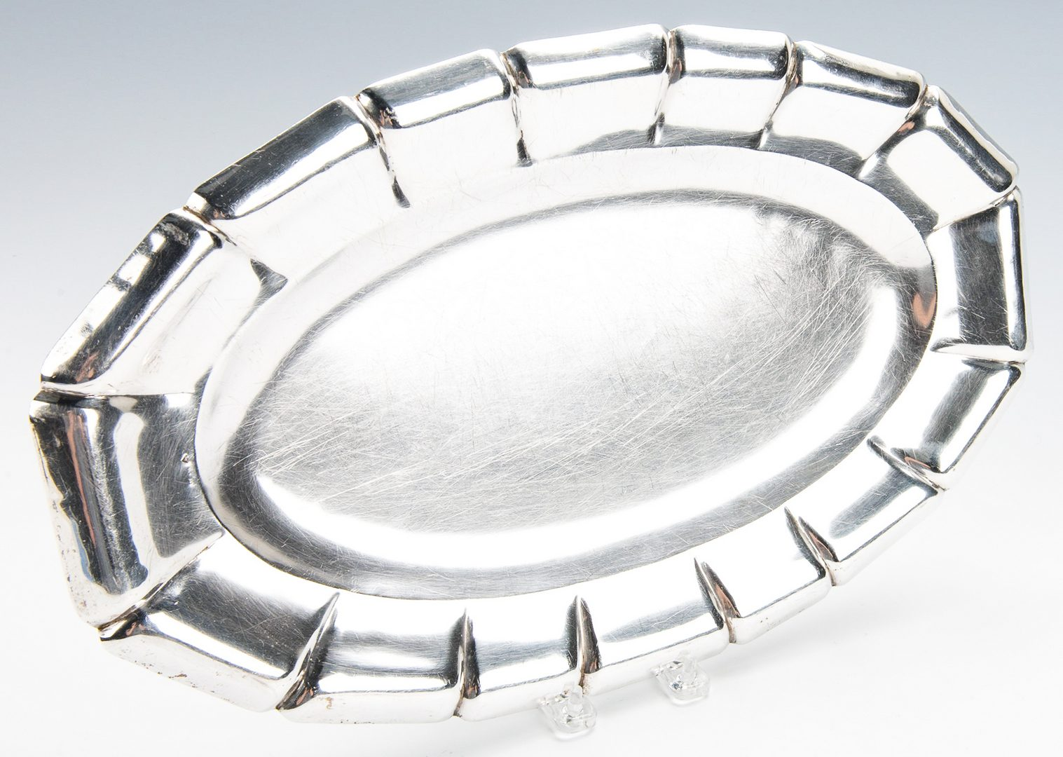 Lot 783: Oval Sterling Tray, Bowl and Sherbets, 8 pcs