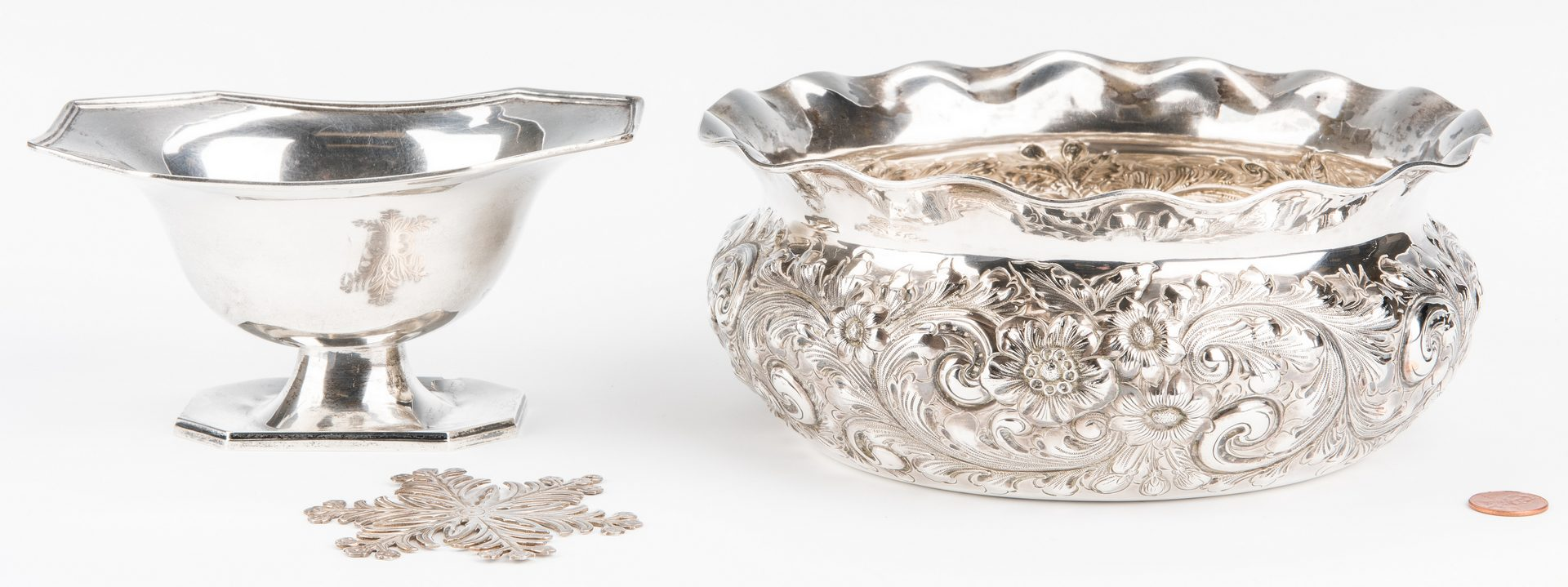 Lot 785: 6 pcs Sterling Silver Hollowware