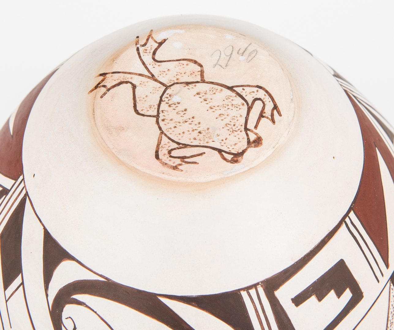 Lot 796: Joy Navasie Frog Woman Marked Jar