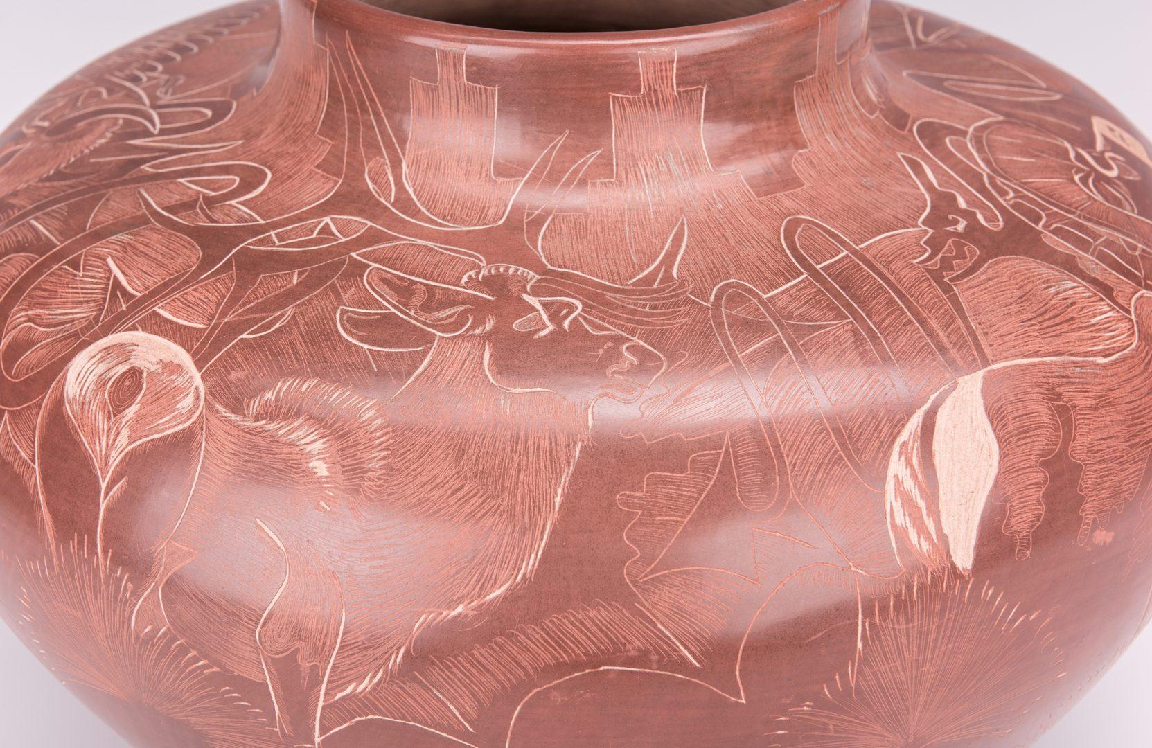 Lot 798: Large Santa Clara Jar, Paul Naranjo
