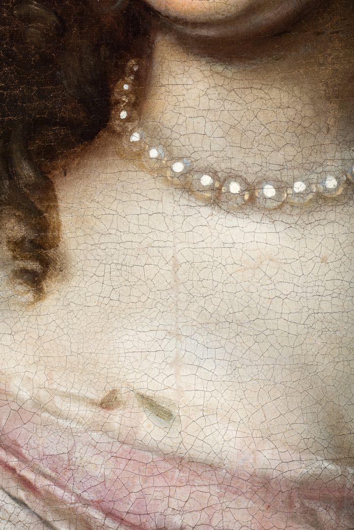 Lot 79: 18th c. British Portrait, Royal Mistress Barbara Villiers