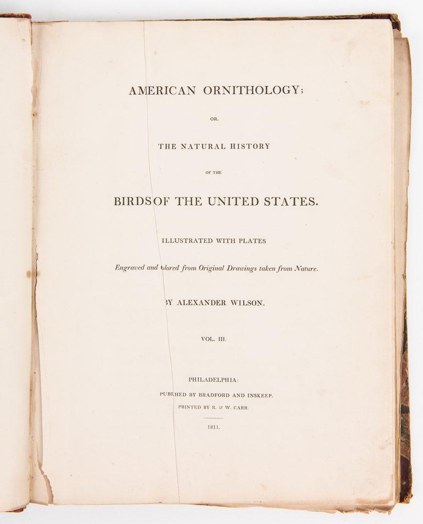 Lot 805: Wilson, American Ornithology, Vol. II & V, 1812