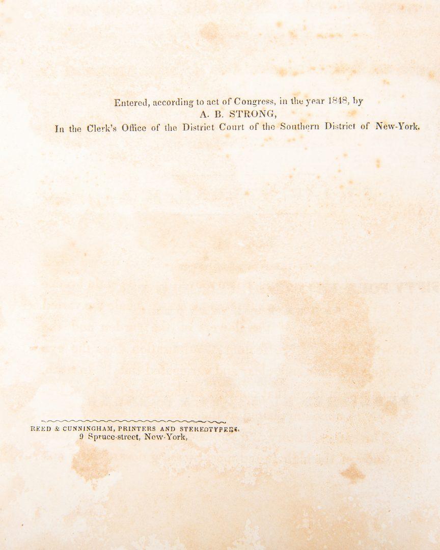 Lot 807: A. B. Strong, American Flora Vol. I & II, 1847-48