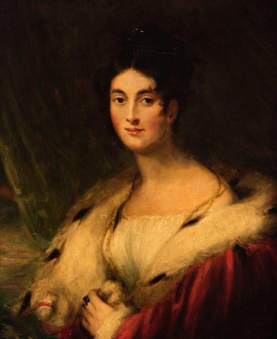 Lot 80: Portrait of a Lady, attr. Sir Thomas Lawrence