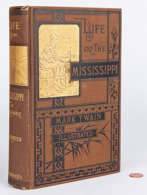 Lot 813: Twain, Life on the Mississippi, 1st Ed., 1883